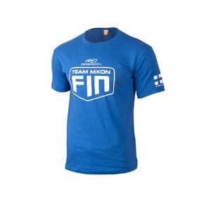 Tyylikäs pitkähihainen sininen paita miehille