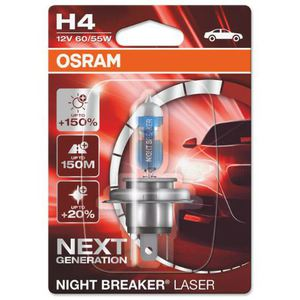 43-1865 | Osram Night Breaker Laser H4-polttimo +150% 12V / 60/55W