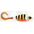 55-05370 | Strike Pro Guppie jr 11 cm 70 g uppoava jerkki Sparkle Pony - Orange/Gold glitte