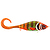 55-05371 | Strike Pro Guppie jr 11 cm 70 g uppoava jerkki Three Kings - Orange/Gold glitter