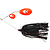 55-07081 | Westin Monster Vibe Indiana Blades 45 g spinnerbait Black Mamba