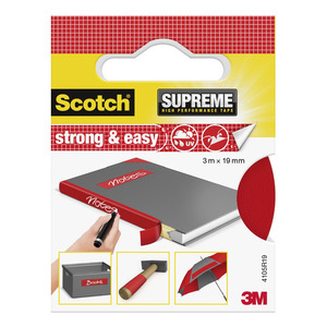 60-0738 | Scotch® SUPREME Strong & Easy Kangasteippi punainen 3 m x 19 mm