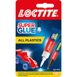 60-6109 | LOCTITE Super Glue All Plastics muoviliima 2g