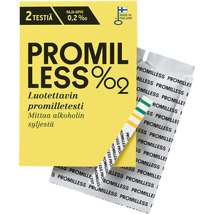 Promilless promilletesti 2 kpl