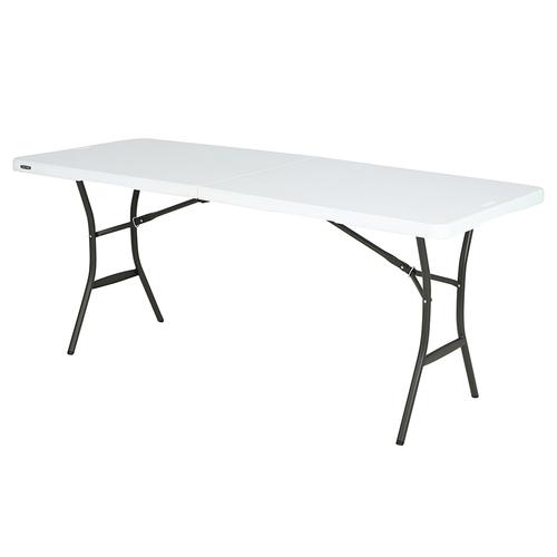 Lifetime pöytä taitettava valkoinen 183 x 70 cm