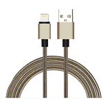 Nylon-Apple-Lightning-latauskaapeli-1m-kulta