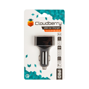 Cloudberry 9,4 A autolaturi 3 x USB 2,1 A + QC 3.0 3 A
