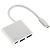 95-01289 | Hama 3-in-1 USB-C multiport adapteri USB 3.1, HDMI ja USB-C (data+power)